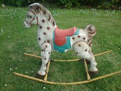 VINTAGE MOBO METAL ROCKING HORSE  - have a photo of me sitting on one when I was about 18 months old.