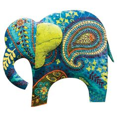 An eye-catching addition to your perennial bed or front walkway, this metal garden stake showcases an elephant silhouette and paisley motif....