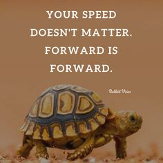 Keep moving forward and you will get there. Learn to enjoy the journey and not rush through it.