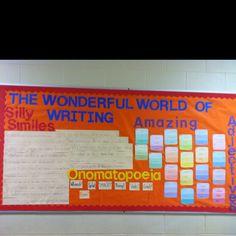 Writing bulletin board...like the alliteration