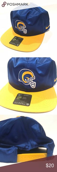 5bdd683c2ac Original sticker is still on the visor portion. Los Angeles rams hat color  blue and yellow. Size  One size Unisex Nike Accessories ...