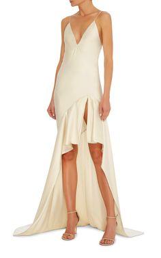 Silk-Satin Gown by JONATHAN SIMKHAI Now Available on Moda Operandi