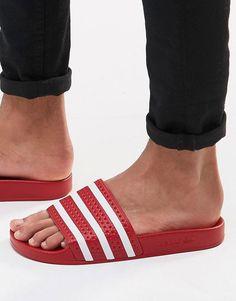 34c586c5cbf5a adidas Originals Adilette Sliders 288193 - Red Mens Sliders