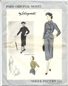 Schiaparelli 1952 (Vogue 1162).