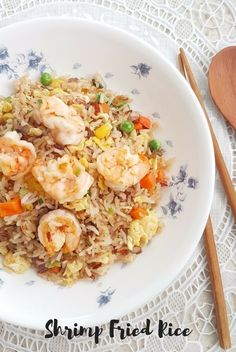 Delicious and easy Shrimp Fried Rice. Prep and cook in under 30 minutes!