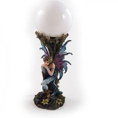 Fata con lampada della serie Wonderful Garden Fairies - Des Alpes
