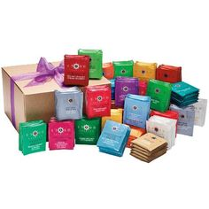 With this tea collection you can savor 15 delicious herbal tea flavor varieties. A total of 150 tea bags, all naturally caffeine-free.DetailsIncludes 10 tea bags of each flavorChamomile, Peppermint, Licorice Spice, Sunny Orange Ginger, Cinnamon Apple Chamomile, Chamomile Nights, Meyer Lemon, Cinnamon Vanilla, Wild Raspberry, Super Mint, Lemon Ginger, Mango Passionfruit, Blueberry, Acai Berry, Spice Dragon Red Chai