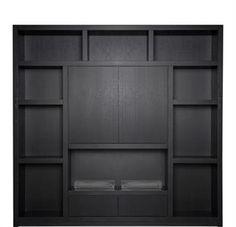 Keijser&Co, Wandmeubel Flex, artikelnummer: 12A.0026 Living Room Cupboards, Tv Wall Cabinets, Interior Styling, Interior Decorating, Interior Design, Alcove Storage, Wooden Tv Stands, Cupboard Shelves, Muebles Living