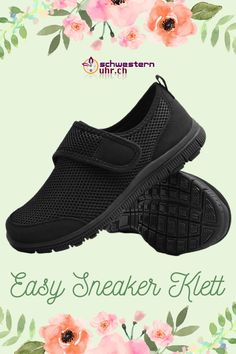 EasySneaker All Black Klett All Black, Easy, Slip On, Super, Sneakers, Fashion, Comfortable Work Shoes, Comfortable Shoes, Beautiful Shoes