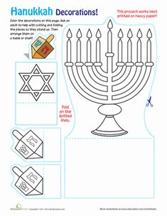 Hanukkah decorations don't have to be complicated. Make these Hanukkah decorations with your young crafter this winter.