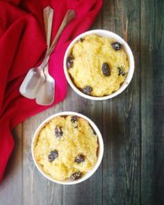 Rum and raisin bread pudding for two ! - FLOURS & FROSTINGS