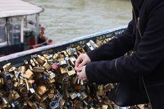 Lovelock Bridge - Pont de l'Archevêché, 75005 Paris, France - February 14, 2014