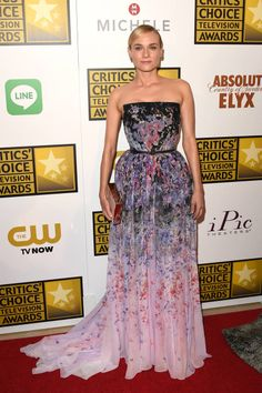 2014 Critics' Choice Television Awards Red Carpet - Diane Kruger