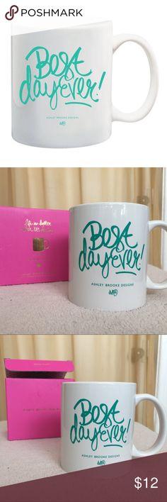 Ashley Brooke Designs 'Best Day Ever' Mug FEATURES: * 11 oz. * white ceramic mug * teal letter design * microwave & dishwasher safe * a great message for every day Ashley Brooke Designs Other