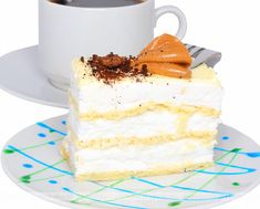 Podstawowa masa do tortów Custard Slice, Best Cake Ever, Cake Bars, Food Cakes, Vanilla Cake, Cake Recipes, Sweet Tooth, Cheesecake, Favorite Recipes