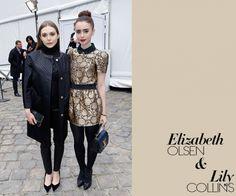 Elizabeth Olsen and Lily Collins