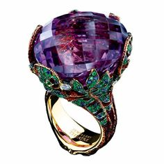 Amethyst, sapphire, tsavorite and diamond ring by Jewellery Theatre