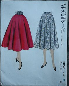 McCall 3059 1950s 50s Full Flared Circle by EleanorMeriwether