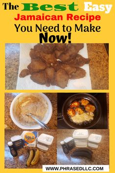 You're going to love this easy and delicious Jamaican breakfast made from 5 ingredients you probably have in your kitchen. You must try Banana Fritters today. They'll be a favorite for everybody in your family. Jamaican Dishes, Jamaican Recipes, What Is A Fritter, Breakfast Items, Breakfast Recipes, Jamaican Banana Fritters, Plantain Fritters, Jamaican Breakfast, Eating Bananas