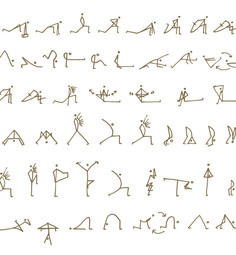 yoga poses in stick figures maybe print out and pin it up