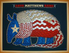 2010 Dave Matthews Band - Woodlands Concert Poster by Methane, This is in the grandkids playroom