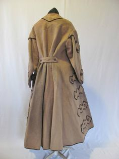"""Classic Original Civil War Era Lady's Wool Coat C 1860's Hard to Find 