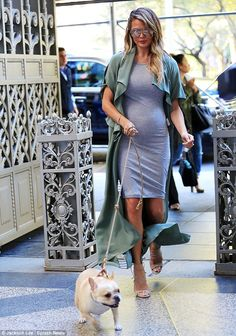 Out and about: Chrissy Teigen was spotted walking her dog in New York City on Monday morni...