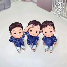 Song triplets famous photo by Song Appa   You will see this one on the book with other new fanarts~  Currently I'm still processing/packing the books to the Reps. ~ShandyClaws~