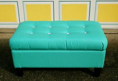 A good tutorial on how to reupholster a tufted bench. I need to do one that my cats scratched up!
