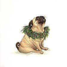 Image result for vintage pug illustration