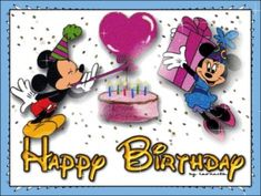 Hb Mickey En Minnie Glitter Photo: This Photo was uploaded by ilona-mariska. Find other Hb Mickey En Minnie Glitter pictures and photos or upload your o. Happy Birthday Mickey Mouse, Birthday Wishes For Kids, Cute Happy Birthday, Birthday Tags, Birthday Frames, Birthday Blessings, Birthday Wishes Cards, Happy Birthday Images, Happy Birthday Greetings
