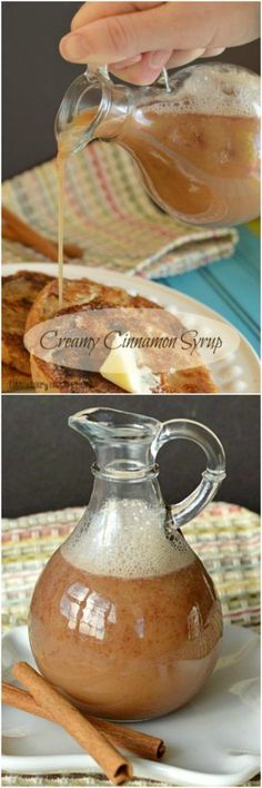 Creamy Cinnamon Syrup is pretty much like pouring candy on your pancakes! It's similar to Kneaders syrup.