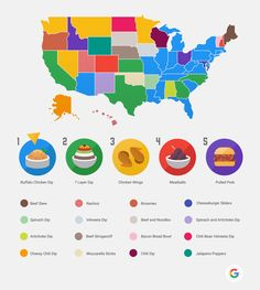What's Your State Making on Super Bowl Sunday?-These Are The Most Searched Super Bowl Sunday Recipes by State #SuperBowl #Football #GameDayGrub