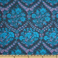 Amy Butler Cameo Josephine's Bouquet Slate $8.98/y      Designer: Amy Butler     Manufacturer: Westminster/Rowan Fabrics     Collection: Cameo