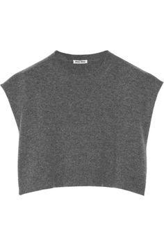 Miu Miu Cropped cashmere sweater