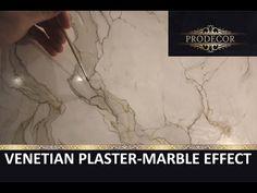 Венецианская штукатурка под мрамор / Stucco Veneziano / marmble effect Calacatta / Venetian plaster - YouTube