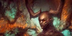 As sombrias ilustrações de fantasia e terror de Chris Cold