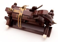 Amazing TIDEY PATENT Rosewood Beveling Plane with Ivory Tips by JIM LEAMY