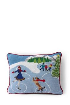 Needlepoint+Decorative+Pillow+from+Lands'+End
