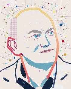 Portrait of bitcoin champion Michael Novogratz for this week's New Yorker!