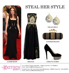 American-British actress #JulianneMoore can carry off pretty much everything with ease. She looked absolutely incredible in an all-black outfit at the biggest fashion red carpet #MetGala15. Get her super glamorous look here! @marchesafashion  @einaahluwalia @colympia