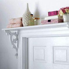 Clever storage idea and shelf