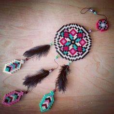 Dreamcatcher hama beads by  amutea
