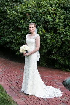 Lace gown: http://www.stylemepretty.com/massachusetts-weddings/watertown-ma/2015/01/30/elegant-summer-wedding-at-the-commanders-mansion/   Photography: Anne Skidmore - http://www.asweddings.com/