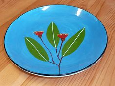 more flowers...[pottery painting]  http://glazeit.com.au