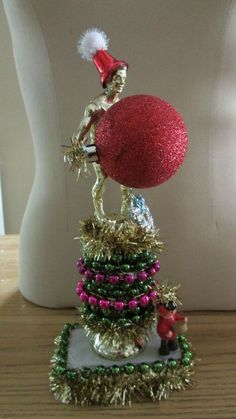 UGLY CHRISTMAS Sweater Party 1st Place Trophy Limited Edition red BaLL #3 #UGLYChristmasSweaterPartyTrophy
