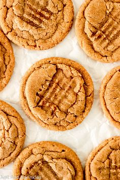 Cookie Butter Cookies are soft, chewy delicious cookies made with Speculoous Cookie Butter! You;ll love the warm, cozy notes of cinnamon, nutmeg, cloves & ginger in these cookies, making them perfect to make around the holidays! #cookiebuttercookies #traderjoes #speculooscookies #speculoos #cookiebutter #chewy #recipe #baking #easy