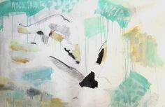 Pájaros / Birds (2 x 1,5 mt) - Oil Panting + Pencil. Artist Clara Simond