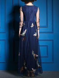 Printed/Dyed Chiffon Maxi Dress