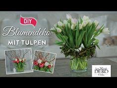 How to: hübsche Frühlings-Blumendeko mit Tulpen   Deko Kitchen - YouTube Sexy Makeup, Garden Projects, Floral Arrangements, Flower Arrangement, Photo Art, Videos, Glass Vase, Valentines Day, Herbs